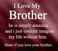 Love quotes for brother : Lovely quotes and wishes for your brother