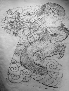 Vietnam Dragon Design by TuyenTruong~artwork belongs to the original owners Dragon Japanese Tattoo, Japanese Tattoos For Men, Japanese Dragon Tattoos, Japanese Tattoo Art, Japanese Sleeve Tattoos, Japanese Tattoo Designs, Art Chinois, Fu Dog, Kunst Tattoos