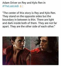 Adam Driver, Daisy Ridley, Rey of Jakku, Kylo Ren, Star wars, The Last Jedi