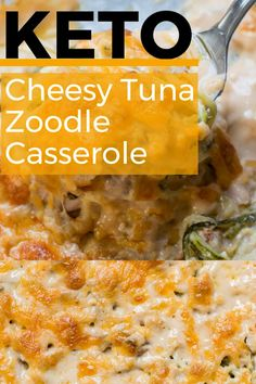 Weight watcher recipes 556827941429314438 - This Keto Tuna Zoodle Casserole is the perfect low carb comfort food! This dish is only net carbs and packed with zucchini noodles, a creamy cheese sauce and chunks of tuna. Source by maebellsa Healthy Low Carb Recipes, Ketogenic Recipes, Diet Recipes, Cooking Recipes, Ketogenic Diet, Tuna Recipes, Seafood Recipes, Slimfast Recipes, Ketogenic Breakfast