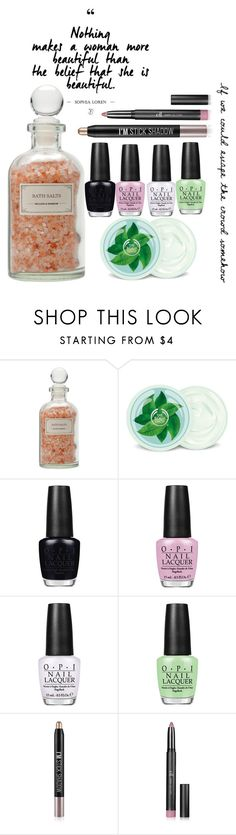 """""""Untitled #1529"""" by purplicious ❤ liked on Polyvore featuring beauty, Mullein & Sparrow, Fuji, OPI, Forever 21 and Britney Spears"""