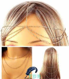 """Gold multi usage head & hair chain  • 18"""" long  • 18"""" long if worn as necklace  • adjustable lobster claw  • multi layered www.FreedomBirdBoutique.StoreNvy.com"""