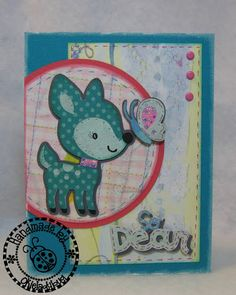 Create a Critter - Deer & butterfly. Like the patterned paper for the deer.