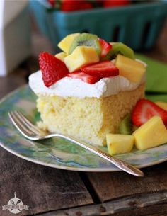 Tres Leches Poke Cake- Take boxed cake mix to the next level with sweetened condensed milk, pudding, and an airy whipped topping.