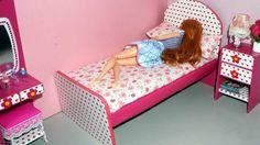 Como fazer cama de papelão para bonecas Barbie e outras *sem cola quente*