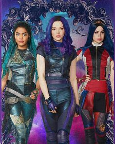 Sofia Carson Dove Cameron China Anne M Descendants Characters, Disney Channel Descendants, Descendants Costumes, Descendants Cast, Disney Channel Stars, Cameron Boyce, Warrior Cats, Mal And Evie, Tribute Von Panem