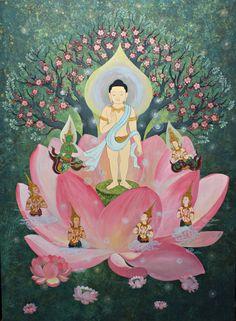 ปี 1 Lotus Buddha, Art Buddha, Buddha Painting, Reiki, Lotus Sutra, Little Buddha, Thai Art, Tibetan Buddhism, Sculpture Art