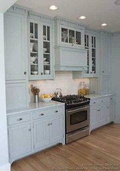 Traditional Blue Kitchen Cabinets #09 (Crown-Point.com, Kitchen-Design-Ideas.org)