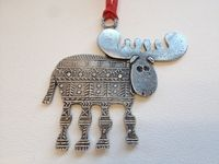 Moose Ornament   Ornaments - Crosby & Taylor / formerly TW Pewter Co.
