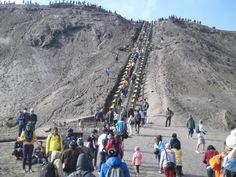 Activity in Bromo Mountain