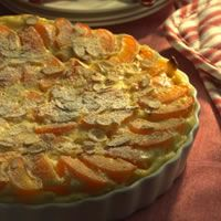 Apricot-Almond Clafouti Recipe 15 min prep time - cook and rest time - total 2 hrs (Diabetes friendly) Healthy Cooking, Cooking Recipes, Pancake Recipes, Healthy Sweets, Diabetic Recipes, Vegetarian Recipes, Healthy Eating, Low Acid Recipes, French Dessert Recipes