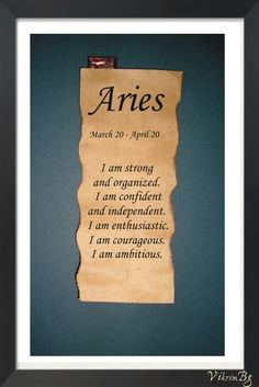 I am an Aries....just not sure about the organized part lol