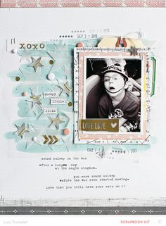 love by gluestickgirl at @Studio_Calico  Lisa Truesdell is so cool that she makes tulle on a boy page look like it's the most natural thing in the world.