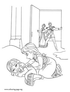 Enjoy This Beautiful Disney Frozen Coloring Page Have Fun See More Look The Elsas Magic Blasts Hits Anna By Mistake Come Check Out And