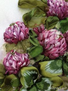 Fragrant Clover | Silk ribbon Embroidery - It is simply amazing what silk ribbon can become.