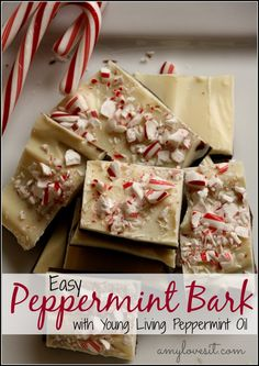 Peppermint Fudge Recipe {with Young Living's Peppermint Essential Oil} || AmyLovesIt.com #oilyfamilies #yleo