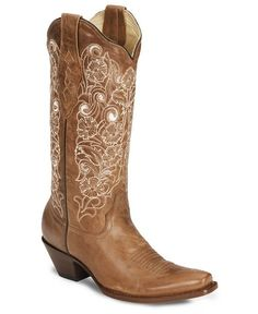 Corral Women's Bone Embroidery Cowgirl Boots