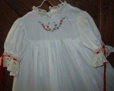 Heirloom dress size 3 light blue/ecru Easter by daisysdaughter