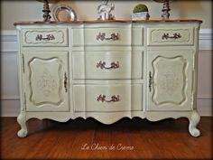 Vintage french provincial sideboard painted in Versailles chalk paint