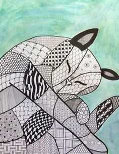 Check out student artwork posted to Artsonia from the Zentangle Animal project gallery at Holly Ridge Middle School.
