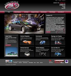 RONIN designed this website for car wrapping specialist Creative FX. Not only does the site have have a slick, 'fast and furious' look, as a content managed system it is easy to keep it regularly updated with fresh content. #Webdesign #Digital #Online #CMS