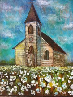 Image result for folkart church in cotton field
