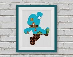 BOGO FREE Super Mario Cross Stitch Pattern Retro por StitchLine