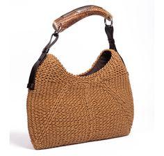 Yves Saint Laurent Straw Shoulder Bag in Beige