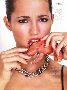 Malena Costa for Elle Spain December 2012 by Angélica Heras