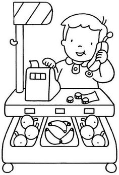 Disegni attività scuola dell'infanzia Preschool Coloring Pages, Coloring Sheets For Kids, Coloring Book Pages, Art Drawings For Kids, Drawing For Kids, Art For Kids, English Worksheets For Kids, Math Groups, Community Helpers
