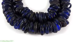 Dutch Donuts Cobalt Annular Trade Beads African SALE WAS $59