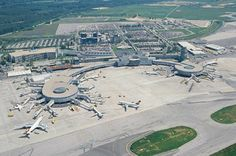 Aerial view of Vienna International Airport  biggest and busiest airport in Austria. Watch out the airport details @ http://www.airport-technology.com/projects/viennaairport/