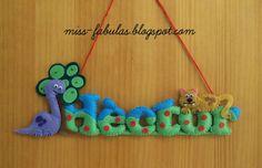 Miss Fábulas   Felt Name Banner