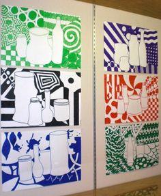 Trendy Positive And Negative Space Art Projects Patterns Ideas Classe D'art, 7th Grade Art, Middle School Art Projects, Atelier D Art, Ecole Art, Art Lessons Elementary, Art Lesson Plans, Art Classroom, Art Plastique