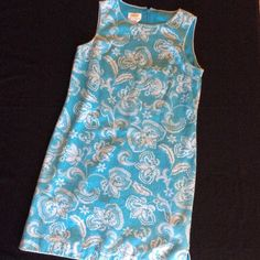 Talbots Textured Cotton, Lined Sheath Excellent cond. The only thing that does not look brand new is the lining, slightly wrinkled, and there is a tiny faint spot on the lining. Outer looks new and is SO GORGEOUS! I really wish this fit me. Cotton spandex, trimmed with edging, fitted, Textured fabric. See below for more... Talbots Dresses