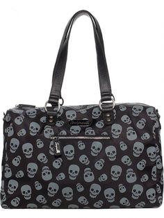 """Women's """"Lust For Skulls"""" Travel Bag by Sourpuss Clothing (Black/Grey)"""