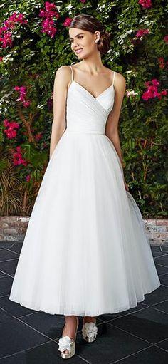Tea Length Wedding Dress - Moonlight Bridal