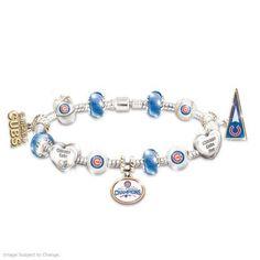 Chicago Cubs 2016 World Series Champions Charm Bracelet