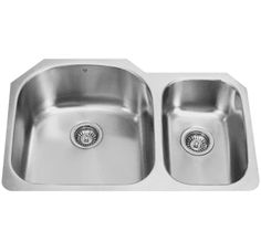 "View the Vigo VG3121L 31-1/2"" Double Basin Undermount Stainless Steel Kitchen Sink with Cutting Board at Build.com."