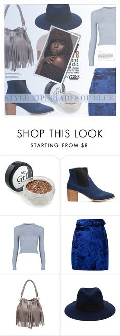 """""""Style Tip: Shades of Blue"""" by eclectic-chic ❤ liked on Polyvore featuring MSGM, Maison Michel, ShadesofBlue, fringebag and yoins"""