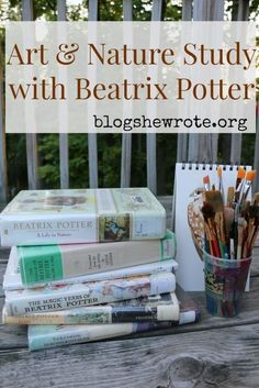 Art & Nature Study with Beatrix Potter is one of my favorites. study Art & Nature Study with Beatrix Potter Nature Study, Art Nature, Nature Drawing, Nature Crafts, Nature Artists, Nature Activities, Forest School, Homeschool Curriculum, Online Homeschooling