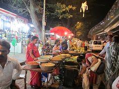 Mumbai, India - street food vendors