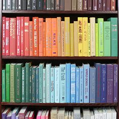 Books by the Foot--an interior designer's best friend. Order books by color, style, or subject, and by how many feet you need!