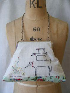 dirk doug and derek...handmade purse