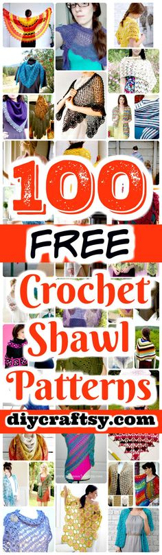 100 Free Crochet Shawl Patterns - Free Crochet Patterns - DIY & Crafts