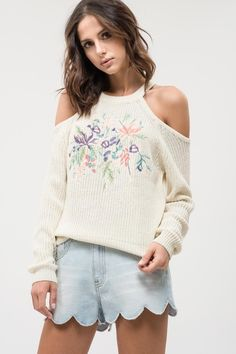 775d70987e83 sisuboutique - RICHMOND FLORAL COLD SHOULDER SWEATER