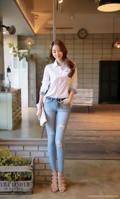 Korean Women`s Fashion Shopping Mall, Styleonme. Korean Street Fashion, Asian Fashion, Girl Fashion, Fashion Outfits, Womens Fashion, Stylish Work Outfits, Classy Outfits, Casual Outfits, Office Looks