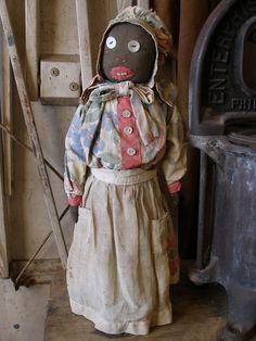 Wonderful old primitive sock bottle doll!