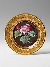 A Berlin KPM porcelain botanical plate