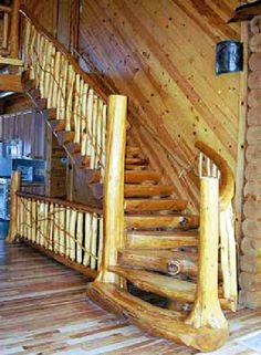 log home interiors | Log Cabin and Log Home Interior Details of Beams Joist Hangers ...